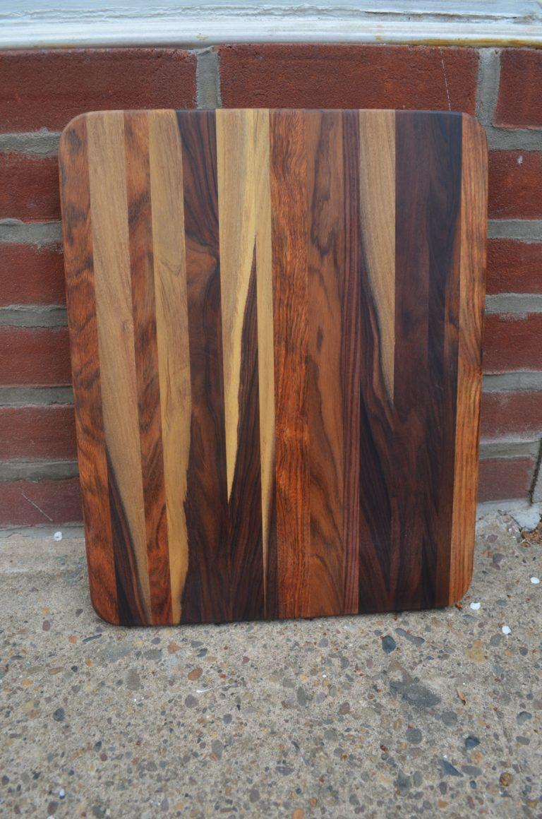 Morado & Caribbean Rosewood Cutting Board